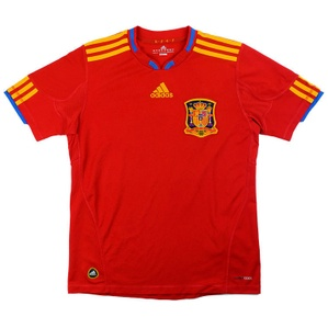 2009-10 Spain Home Shirt (Very Good) M