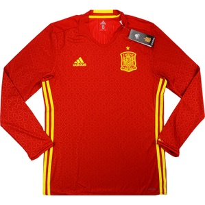 2016-17 Spain Player Issue Adizero Home L/S Shirt *BNIB*