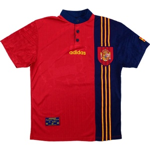 1996-98 Spain Home Shirt (Very Good) M