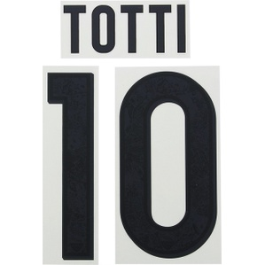 2015-16 Roma Black Name Set Totti #10 (Junior)
