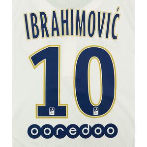 2014-15 Paris Saint-Germain Away Ibrahimović #10 Name Set