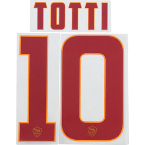 2014-15 Roma Red Name Set Totti #10 (Junior)