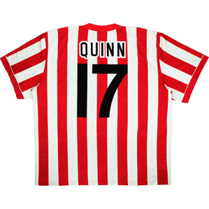 1996-97 Sunderland Home Shirt Quinn #17 (Excellent) L
