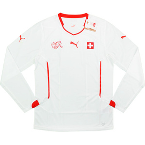 2014-15 Switzerland Player Issue Away L/S Shirt (PRO Fit) *w/Tags*