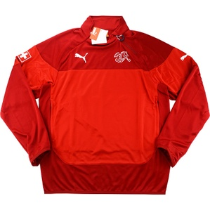 2014-15 Switzerland Player Issue 1/2 Zip Training Top *BNIB*