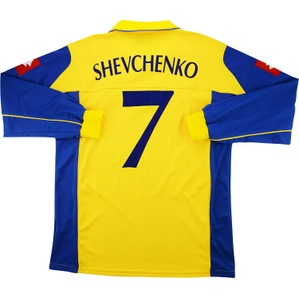 2004-05 Ukraine Player Issue Home L/S Shirt Shevchenko #7 *Mint* XL