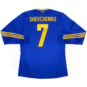 2011-13 Ukraine Player Issue Formotion Away L/S Shirt Shevchenko #7 *w/Tags* L