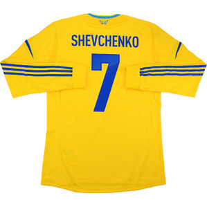 2011-13 Ukraine Player Issue Home L/S Shirt Shevchenko #7 *w/Tags* L
