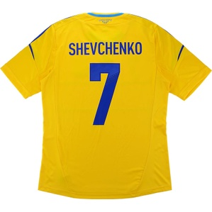 2011-13 Ukraine Home Shirt Shevchenko #7 (Very Good) S