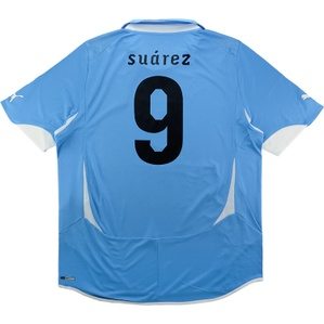 2010-11 Uruguay Player Issue Home Shirt Suárez #9 *w/Tags* XXL