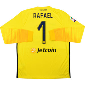 2015-16 Hellas Verona Match Issue GK Away Shirt Rafael #1 *As New* L