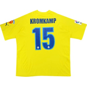 2005-06 Villarreal Match Issue Home Shirt Kromkamp #15