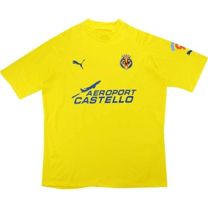 2005-06 Villarreal Player Issue Home Shirt Kromkamp (Excellent) XL