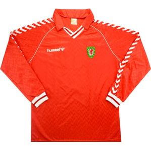 1989 Wales Match Worn Home L/S Shirt #8 (Phillips) v Ireland