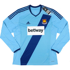 2014-15 West Ham Away L/S Shirt *BNIB*
