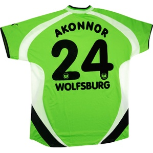 2000-01 Wolfsburg Match Issue Home Shirt Akonnor #24