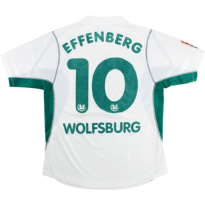 2002-03 Wolfsburg Home Shirt Effenberg #10 (Very Good) M