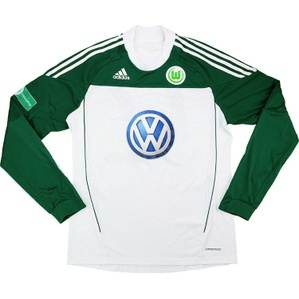 2010-11 Wolfsburg II Match Issue Home L/S Shirt #17