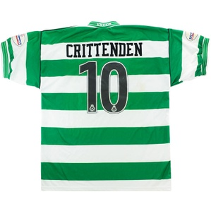 2003-04 Yeovil Match Worn FA Cup Home Shirt Crittenden #10 (v Liverpool)