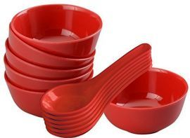 Round Soup Bowl Set with Spoon Set (12-Pieces)