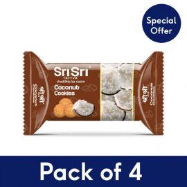 Sri Sri Tattva Milk Coconut Cookies - Pack of 4
