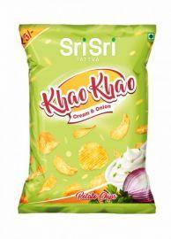 Sri Sri Tattva Cream and Onion - Potato Chips