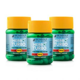 Dr. Vaidya's Herbo24Turbo - Pack of 3 - Male Sexual Wellness