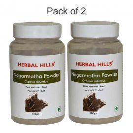 Herbal Hills Nagarmotha powder - 100 gms - Pack of 2 Nagarmotha Cyperus rotundus powder