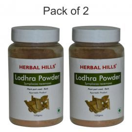 Herbal Hills Lodhra Powder - 100 gms - Pack of 2 Natural herbal powder for uterine health