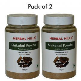 Herbal Hills Shikakai Powder - 100 gms - Pack of 2 Ayurvedic herbal powder for Hair