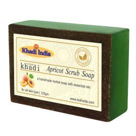 Khadi Leafveda Apricot Scrub Soap Pack of 3 For Bath Essentials 375gm