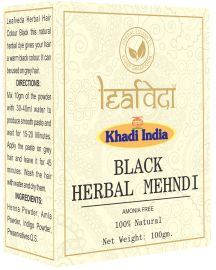 Khadi Leafveda Black Herbal Mehndi Amonia Free For Hair Care 100gm