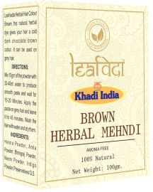 Khadi Leafveda Brown Herbal Mehndi Amonia Free For Hair Care 100gm