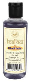 Khadi Leafveda Lavender Ylang Ylang Massage Oil For Skincare 210ml