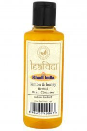 Khadi Leafveda Lemon Honey Herbal Hair Cleanser For Hair Care 210ml