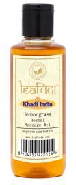 Khadi Leafveda Lemongrass Massage Oil For Skincare 210ml