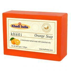 Khadi Leafveda Orange Soap Pack of 3 For Bath Essentials 375gm
