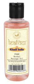 Khadi Leafveda Rose Massage Oil For Skincare 210ml
