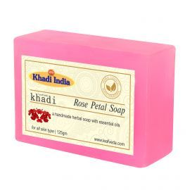 Khadi Leafveda Rose Petal Soap Pack of 3 For Bath Essentials 375gm