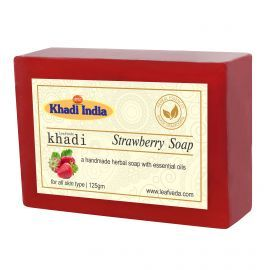 Khadi Leafveda Strawberry Soap Pack of 3 For Bath Essentials 375gm