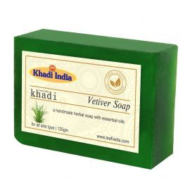 Khadi Leafveda Vetiver Soap Pack of 3 For Bath Essentials 375gm