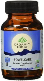 Organic India Bowelcare 60 Capsules Bottle for Health Care