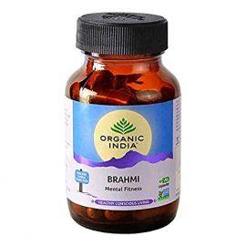 Organic India Brahmi 60 Capsules Bottle for Health Care