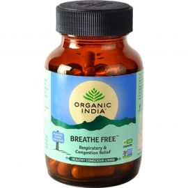 Organic India Breathe Free 60 Capsules Bottle for Health Care