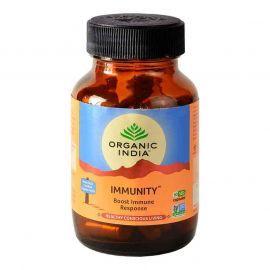 Organic India Immunity 60 Capsules Bottle for Health Care