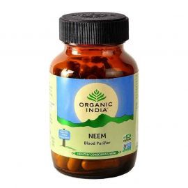 Organic India Neem 60 Capsules Bottle for Health Care