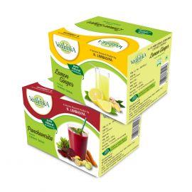 Vedantika Herbals Energy drinks( combo pack)- Panchamrita + Lemon Ginger - 500g
