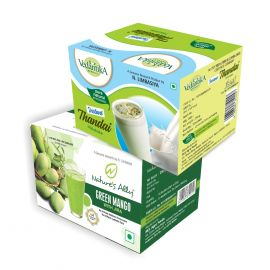 Vedantika Herbals Summer special Drinks Combo Pack- Green Mango+ Instant Thandai - 500g