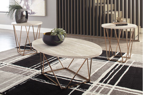 Signature Design by Ashley Tarica Coffee and End Table Set- Room View