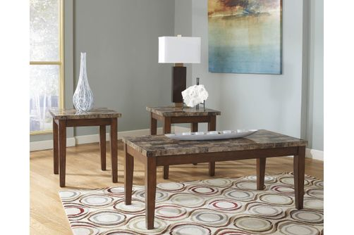 Signature Design by Ashley Theo Coffee Table and End Tables- Room View